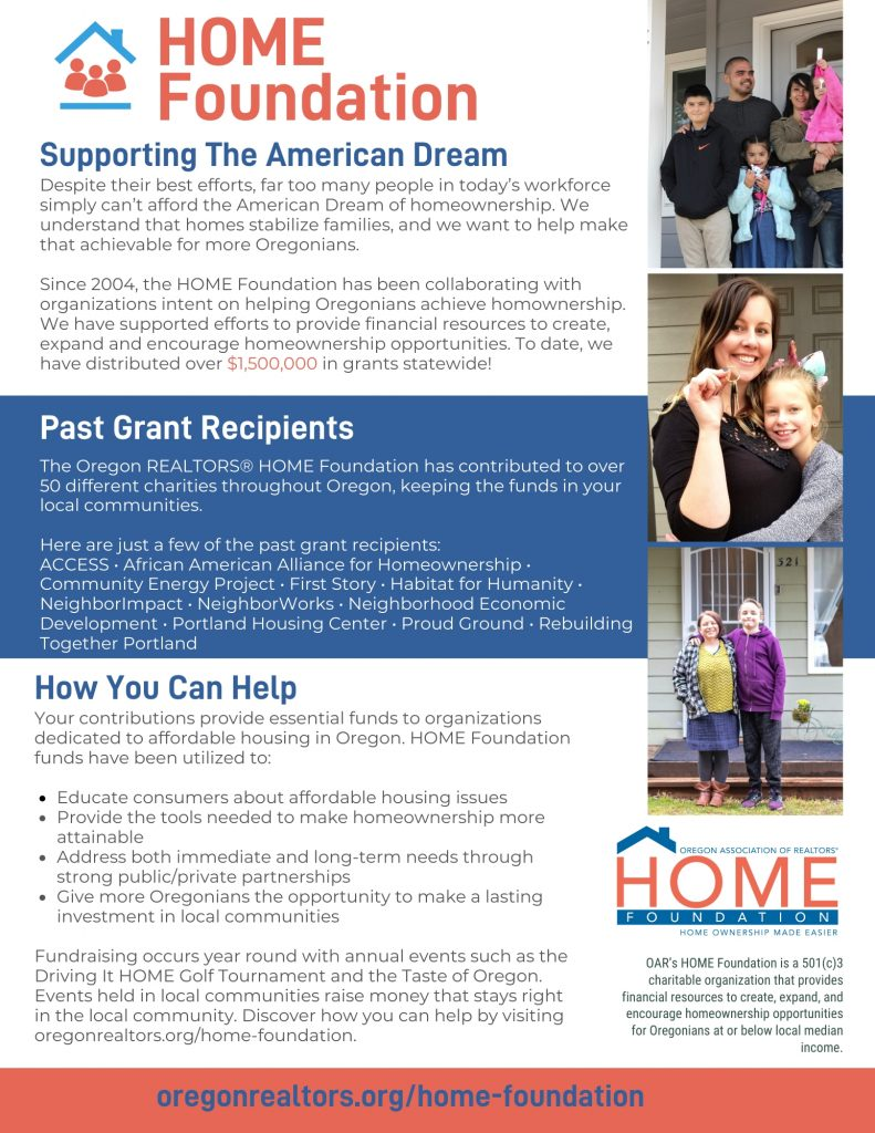 HOME Foundation Flyer 2019
