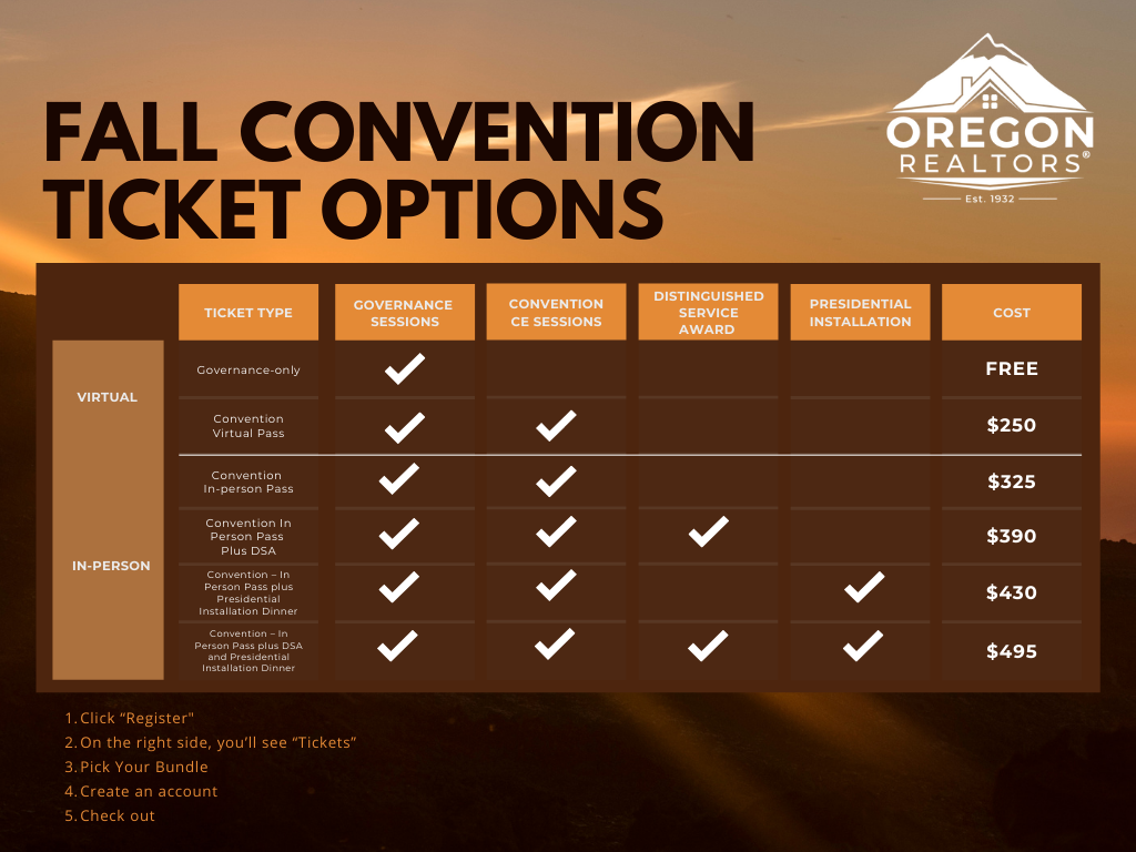 Fall Convention Tickets